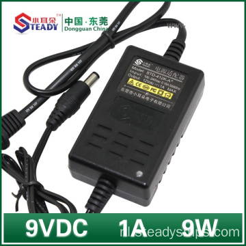 Desktop Type Power Adapter 9VDC 1A